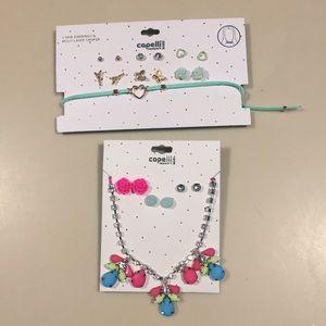 Capelli necklace, choker & earrings